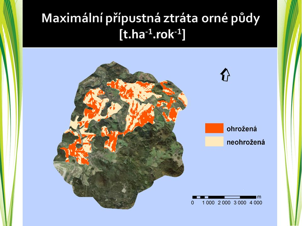 Maximální přípustná ztráta orné půdy [t.ha-1.rok-1]